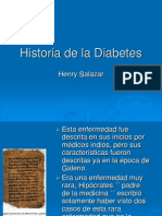 Historia de La Diabetes