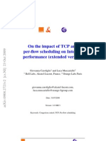 On the impact of TCP and per-flow scheduling on Internet performance