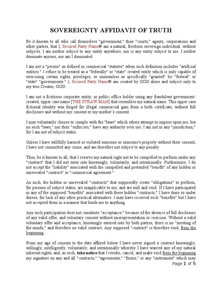Doc415537 Free Printable Affidavit Form Free Blank Affidavit – Signed Affidavit Template