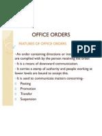 Office Orders