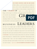 7 Traits of Great Leaders