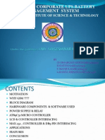 GSM based Corporate UPS battery Management System Ppt