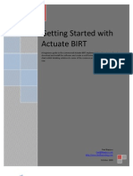 Getting Started with Actuate BIRT