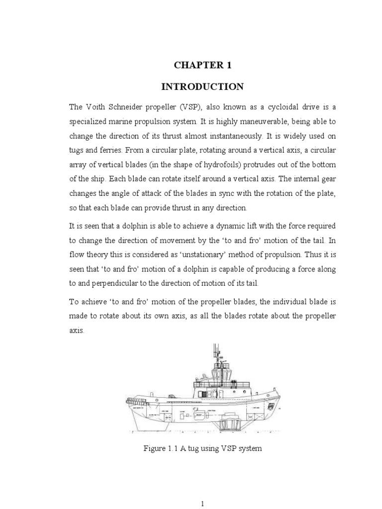 Voith Scheider Preopeller Vsp Propeller Tugboat
