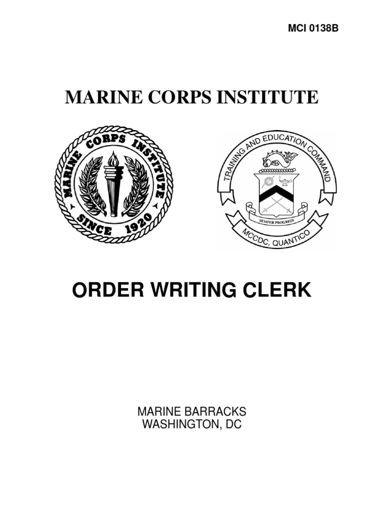 order writing clerk mci answers