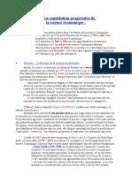 Chapitre I - La Constitution Progressive De
