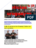 Noticias uruguayas sábado 12 de noviembre de 2011