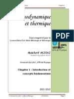 Thermodynamique Et Thermique Chapitre I