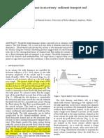 Flood-Ebb Tidal Dominance in an Estuary- Sediment Transport And