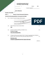 Class Test 7 (Syllabus 5100)(Marking Scheme)