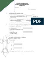 Chapter 12 Homeostasis -Tutorial Worksheet