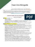 Manual de Como Fazer Uma Monografia