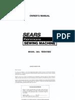 Kenmore Sewing Machine 1884180 Manual