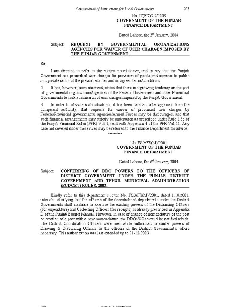 finance department notification 2004 205 258 cheque local rh scribd com