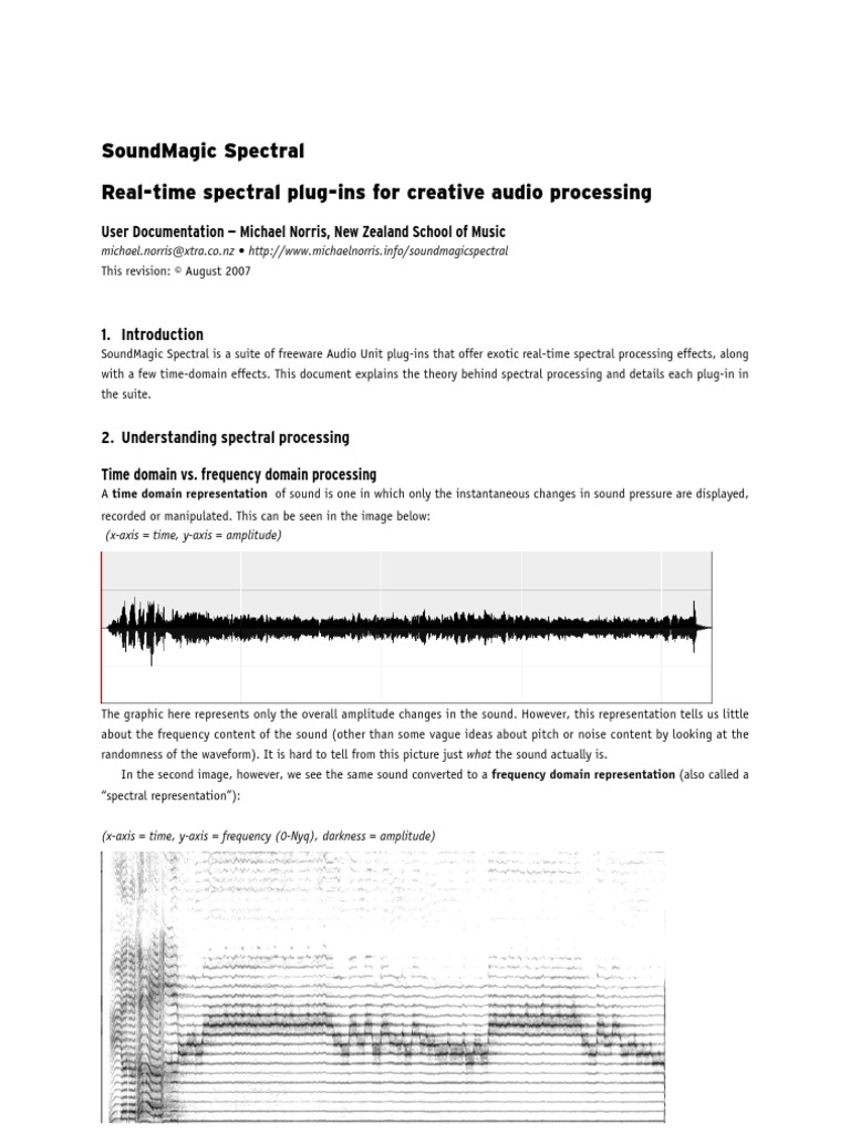 Sound Magic Spectral Manual | Interval (Music) | Fast Fourier Transform