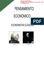 PENSAMIENTO ECONÓMICO - ECONOMISTAS CLASICOS