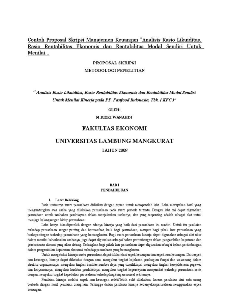 Contoh Proposal Skripsi Akuntansi Pdf Revizionshmei