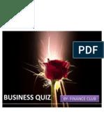 Business Quiz......Finance Club