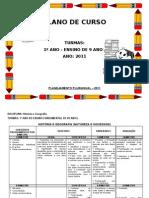 MODELO PLANO DE CURSO 1º ANO FUNDAMENTAL