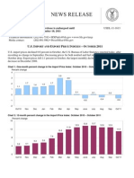 U.S. IMPORT AND EXPORT PRICE INDEXES – OCTOBER 2011
