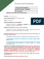 MODELO DE FICHA DE LEITURA (NÃO ALTERAR)