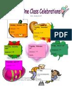 Classroom Parties