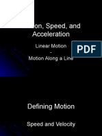 Linear Motion Speed Acceleration and Freefall