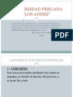 UPLA. Análisis de Resoluciones Judiciales. X Semestre. 2011-II