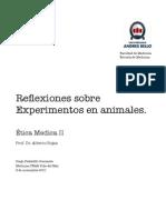 Reflexiones Sobre Experimentos Animales