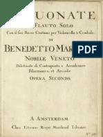 B.Marcello - XII sonate a flauto solo e basso continuo Op.2  fac-simile