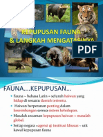 Kepupusan Fauna & Langkah Mengatasinya