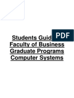 Students Guide to Faculty of Business Computer Systems