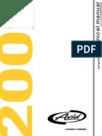 Technical Manual Avid 2009