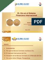 El Oro en El Sistema Financiero Internacional