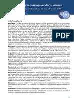 Declaración Internacional sobre los Datos Genéticos Humanos   op