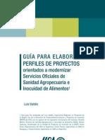 GUÍA Proyectos modernizar Servicios de Sanidad Agropecuaria e Inocuidad de Alimentos