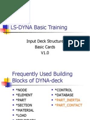 LS DYNA Basic Cards | Yield (Engineering) | Solid Mechanics