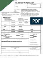 Member's Data Form (Mdf) Print (No. 911146020078)