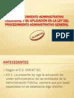 El Procedimiento Administrativo Trilateral