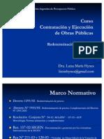 Redeterminación de precios de contratos de obra pública