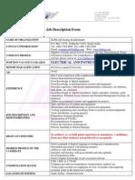 Job Description Instrumentation Engiineer