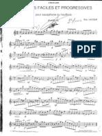 Guy Lacour - 50 Études Faciles Et Progressives Pour Saxophone Ou Hautbois - Vol