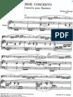 Strauss - Oboe Concerto (Piano Score)