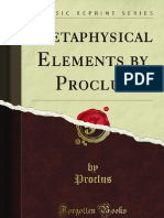Metaphysical Elements by Proclus - 9781440090288
