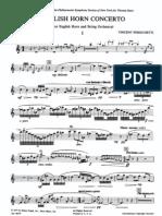 Persichetti - English Horn Concerto (Piano Reduction)