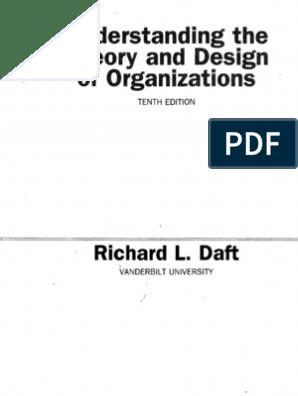 Daft Understandingorgs Index 10ed Organizational Culture Strategic Management