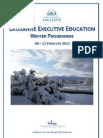 EHL - Winter Programme 2012 - Brochure