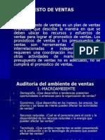PRESUPUESTO DE VENTAS
