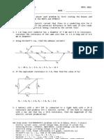 Quiz 301a Electrodynamics