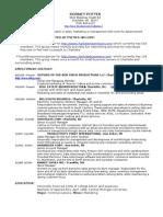 Resume Rod Potter Sales Management Charlotte NC